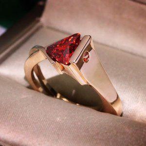 Women's / Men's Gold & Ruby Ring